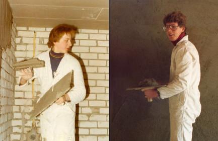 1977  Theo en Frank in dienst